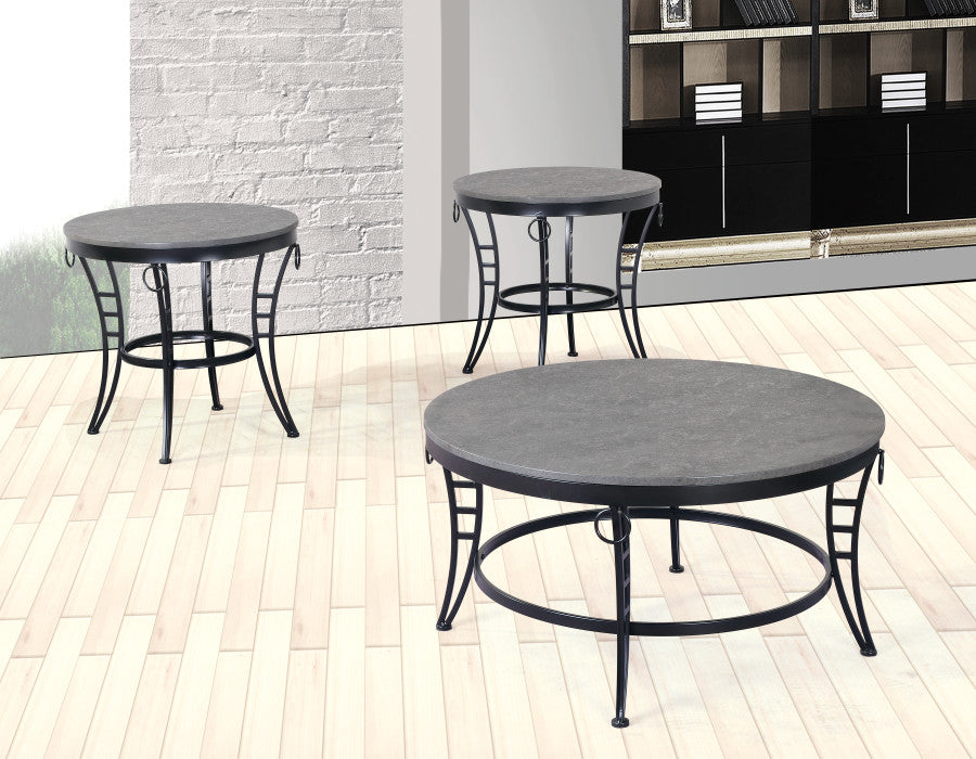 WEEKLY or MONTHLY. Emmerson Cocktail Table & 3 Circle End Tables