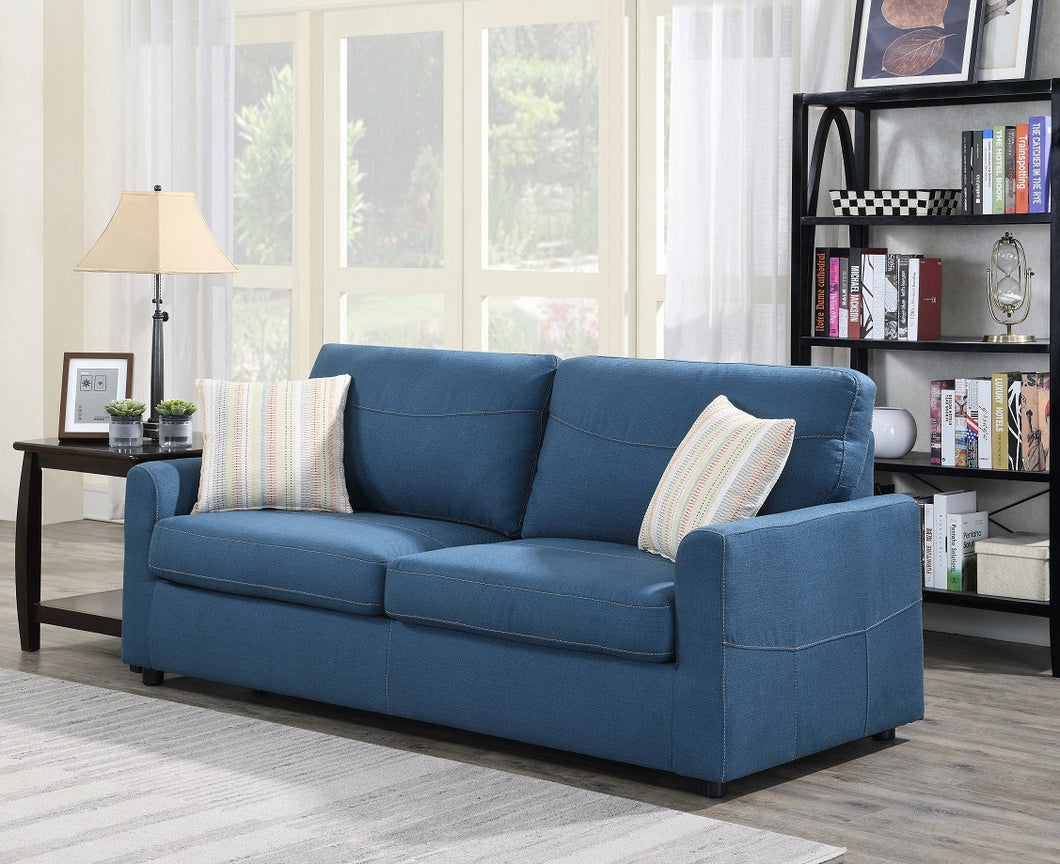 WEEKLY or MONTHLY. Slumber Sofa QUEEN Sleeper with Mattress in Blue