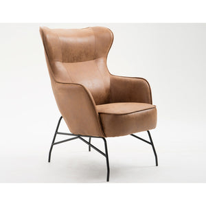 Franky Graham Accent Chair in Saddle