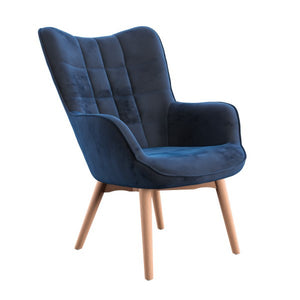 Margaux Accent Chair in Dark Blue