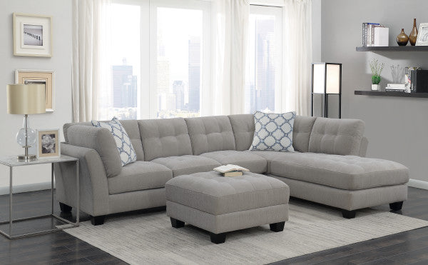 WEEKLY or MONTHLY. Grey Ryder Tufted Sectional