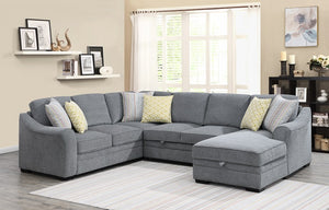 WEEKLY or MONTHLY. Ellie Sectional with Pop-up Sleeper