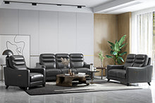 WEEKLY or MONTHLY. Amos Genuine Leather Couch Set