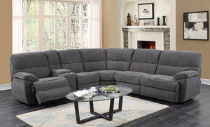 WEEKLY or MONTHLY. Sweet Aurora TRIPLE Power Reclining Brown Sectional