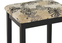 Virginia Black Butterfly Vanity and Stool
