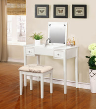 Virginia White Butterfly Vanity and Stool
