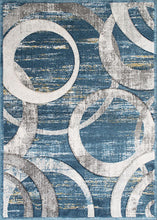 Blue Thunder Chains Rug