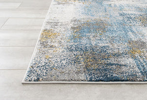 Blues and Golds in Fossil Rug