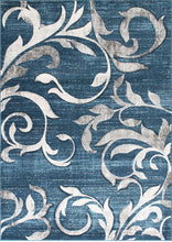 Rug with White Vines