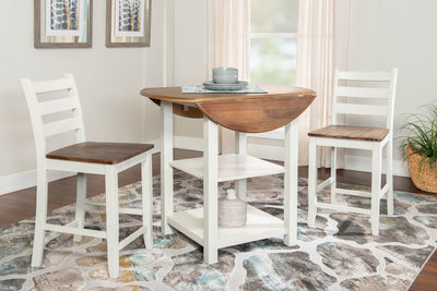 WEEKLY or MONTHLY. Abigail Counter Table & 2 Counter Chairs