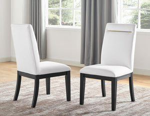 WEEKLY or MONTHLY. Yves White Dining Table & 8 Side Chairs