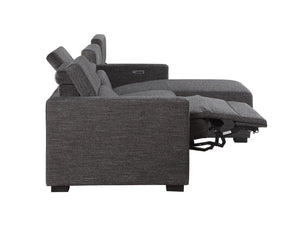 WEEKLY or MONTHLY. Light Gray Zarra Double POWER Sectional