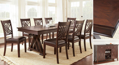 WEEKLY or MONTHLY. Andre  Dining & 8 Side Chairs