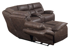 WEEKLY or MONTHLY. Ariana Saddle Brown POWER Sectional