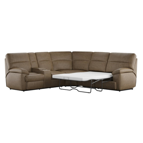 WEEKLY or MONTHLY. Sweet Aurora Brown Sectional with FULL Sleeper