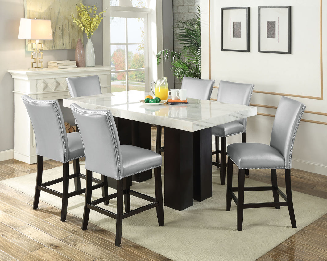 WEEKLY or MONTHLY. Darling Camila Rectangular COUNTER Table & 4 Chairs in Gray