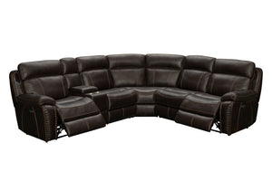 WEEKLY or MONTHLY. Colton 6x Power Genuine Leather Sectional