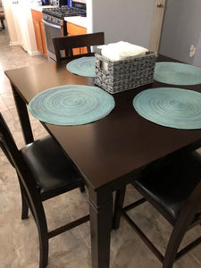 WEEKLY or MONTHLY. Mr. Benny Brown Rectangular Dining Table + 4 Chairs + Bench