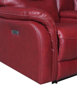 WEEKLY or MONTHLY. Fortune Red Power Leather Couch Set