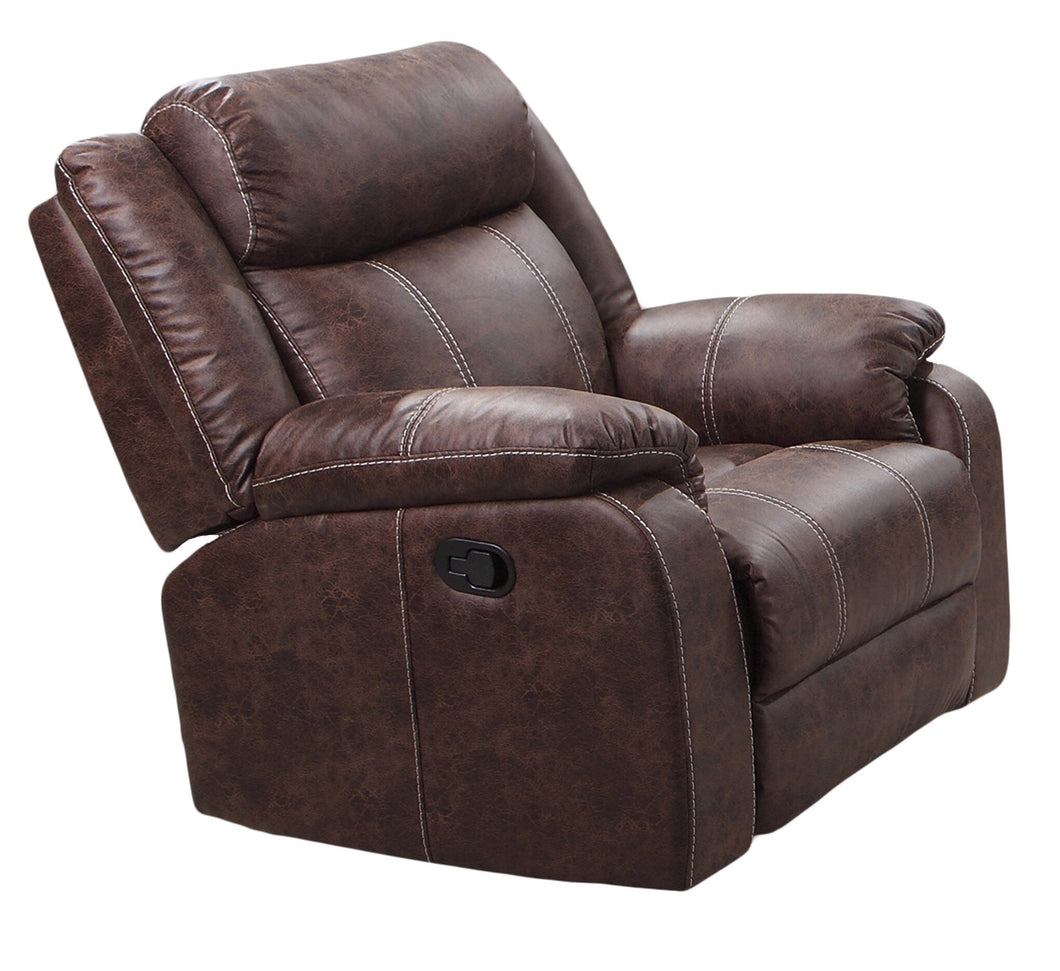 WEEKLY or MONTHLY. Buckskin Chaise Glider Recliner