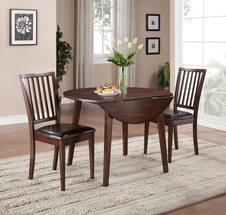 12-WEEK SPLIT PAY. $49 DOWN TAKES IT HOME. Mango Drop Leaf Dining Table +2 Chairs