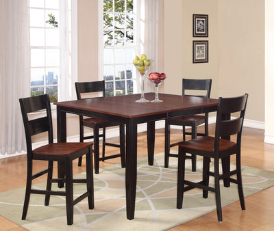 WEEKLY or MONTHLY. Black and Cherry Pub Table + 6 Chairs