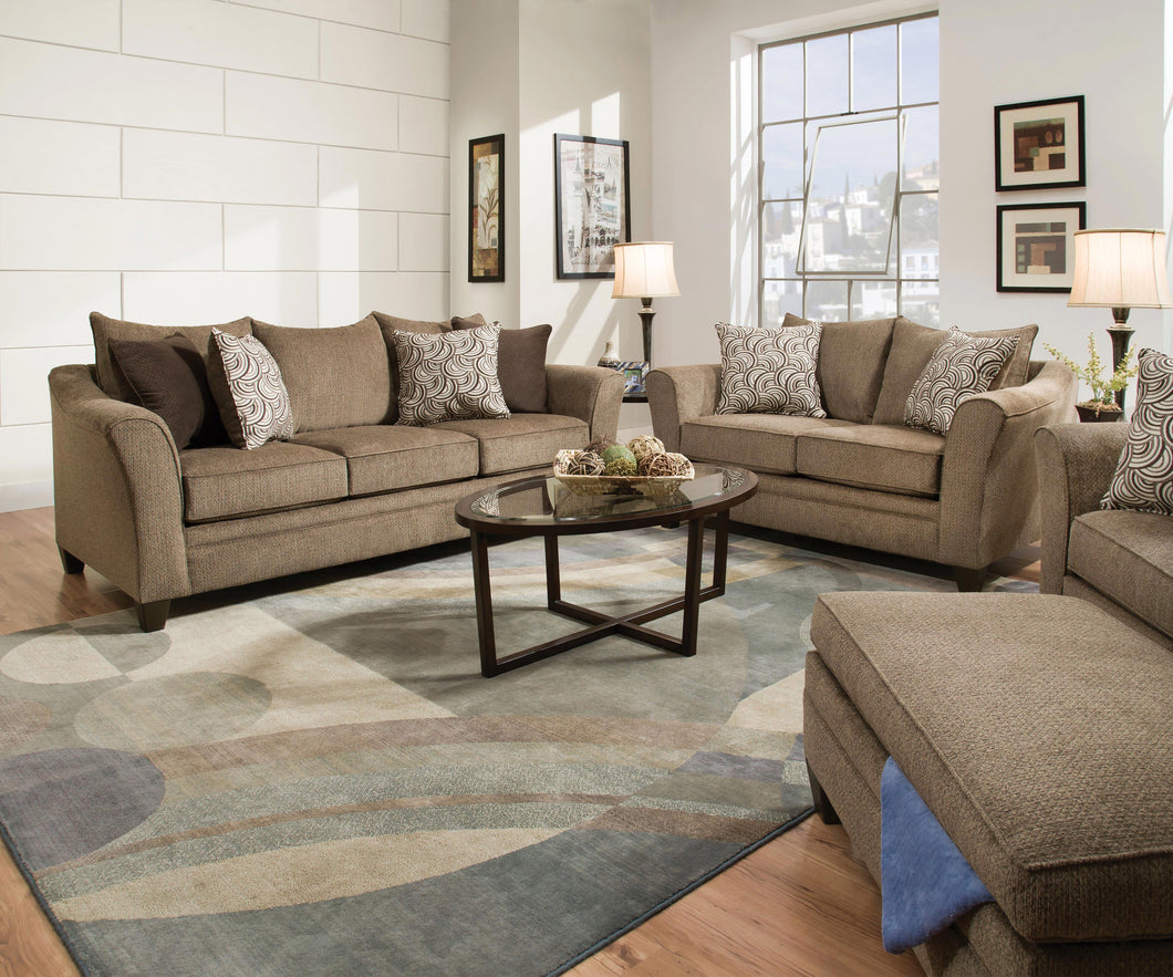 WEEKLY or MONTHLY. Albany Truffle Couch Set