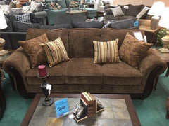 12-WEEKLY PAYMENTS. Cornell Chestnut Couch Set