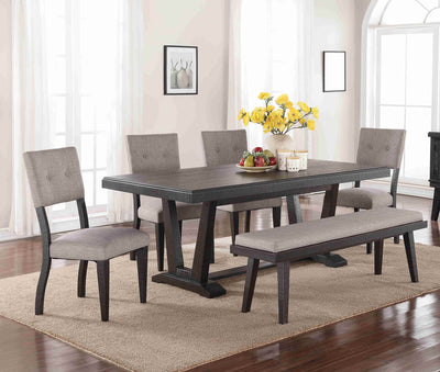 WEEKLY or MONTHLY. Ashen Echo Dining Table & 4 Chairs & Bench