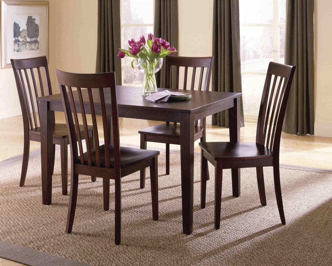 WEEKLY or MONTHLY. Chocolate Brown Dining Table + 4 Chairs