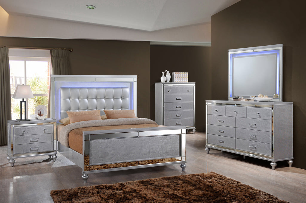 12-WEEK SPLIT PAY. Silver Valentino Bedroom Set