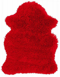 PURPLE Polar Fur Rug Bear Shape