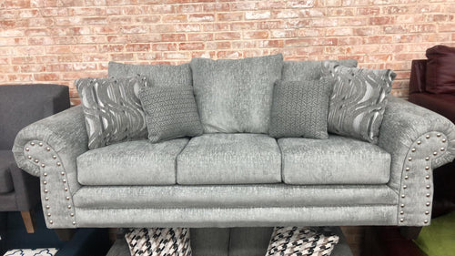 WEEKLY or MONTHLY. Rizzo Nailhead Trim Sofa and Loveseat