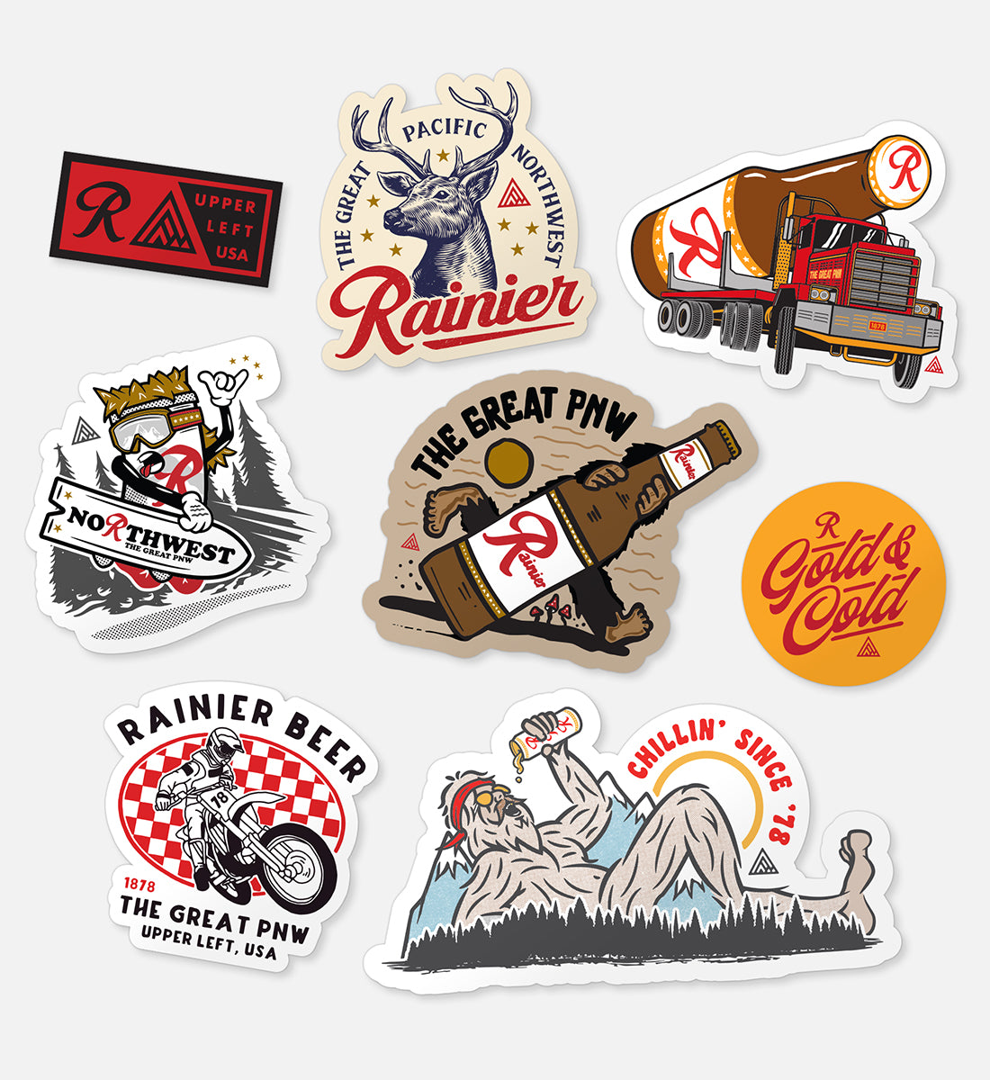 Rainier '21 Sticker Pack