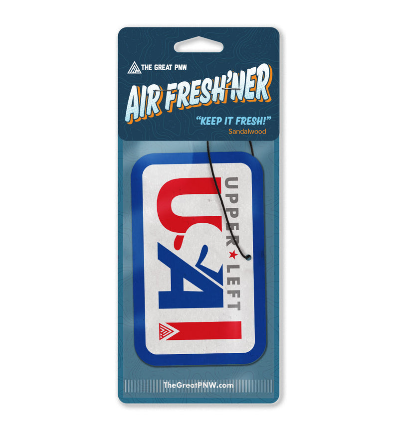 Upper Left USA Air Fresh'ner - The Great PNW