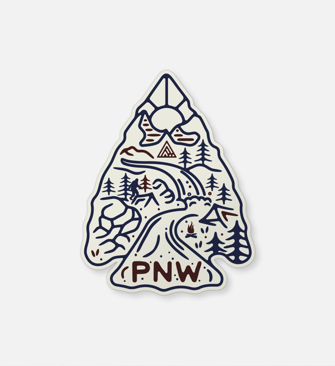 Arrowhead Sticker - The Great PNW