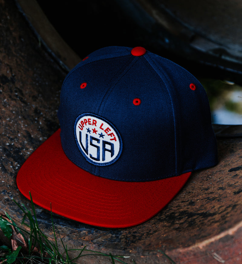 Burnett Hat - Blue/Red