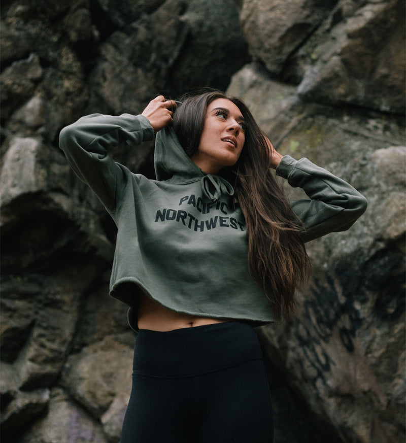 All Good Women's Crop Hoodie - The Great PNW