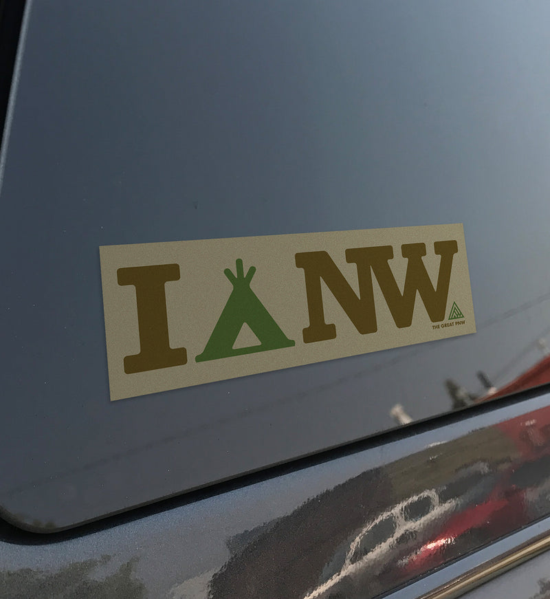 I Camp NW Sticker - The Great PNW