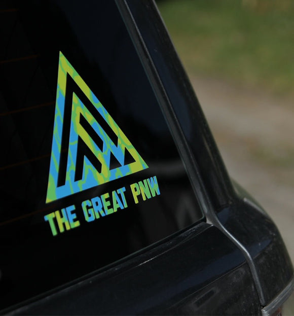 Summer Camo Vinyl Decal - TheGreatPNW