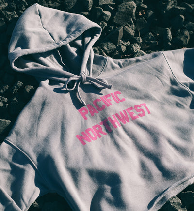 All Good Women's Crop Hoodie - Storm - The Great PNW
