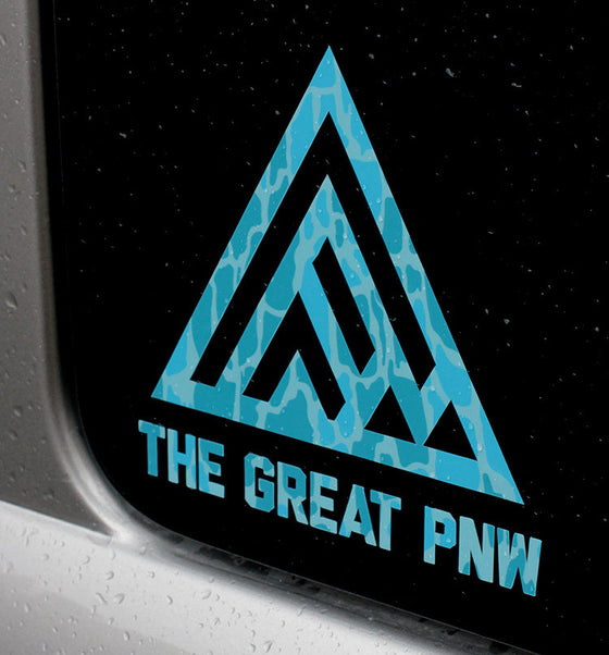 Winter Camo Vinyl Decal - TheGreatPNW