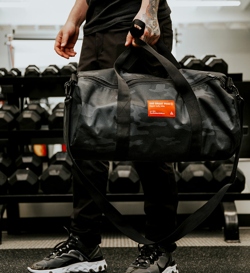 Serial Duffle Bag - Black Camo