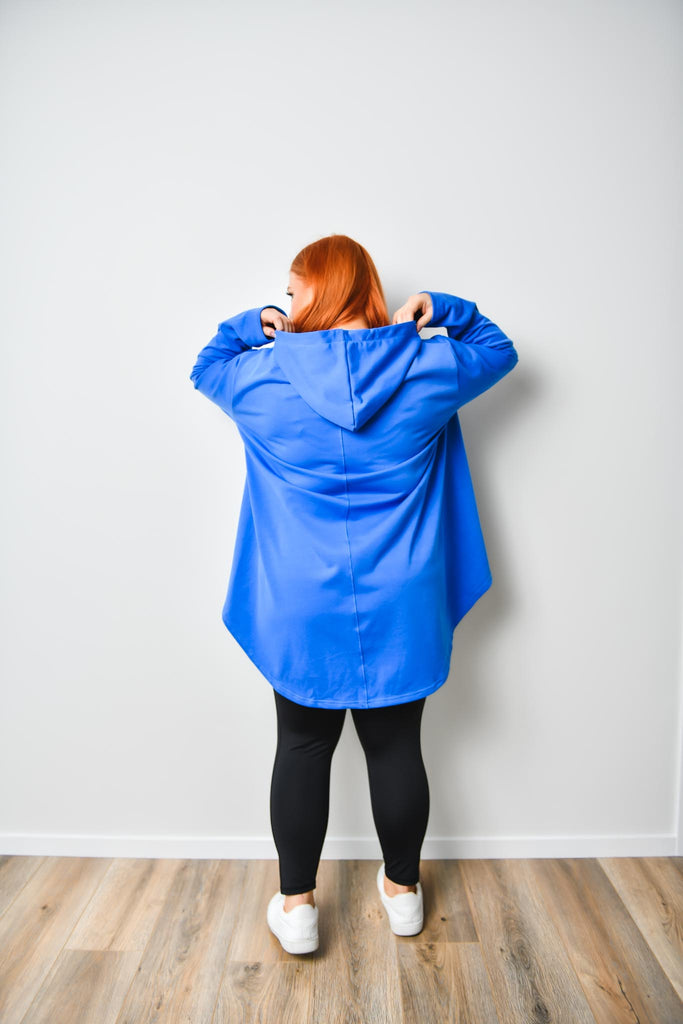 Crumb Catcher Hoodie - BLUE - Friday Flamingo