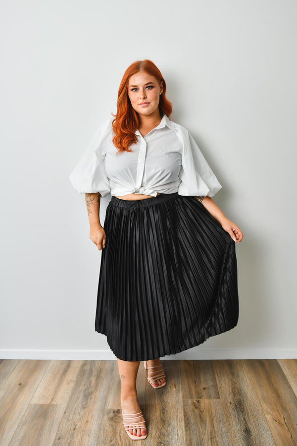 Nina Skirt - Black - Friday Flamingo