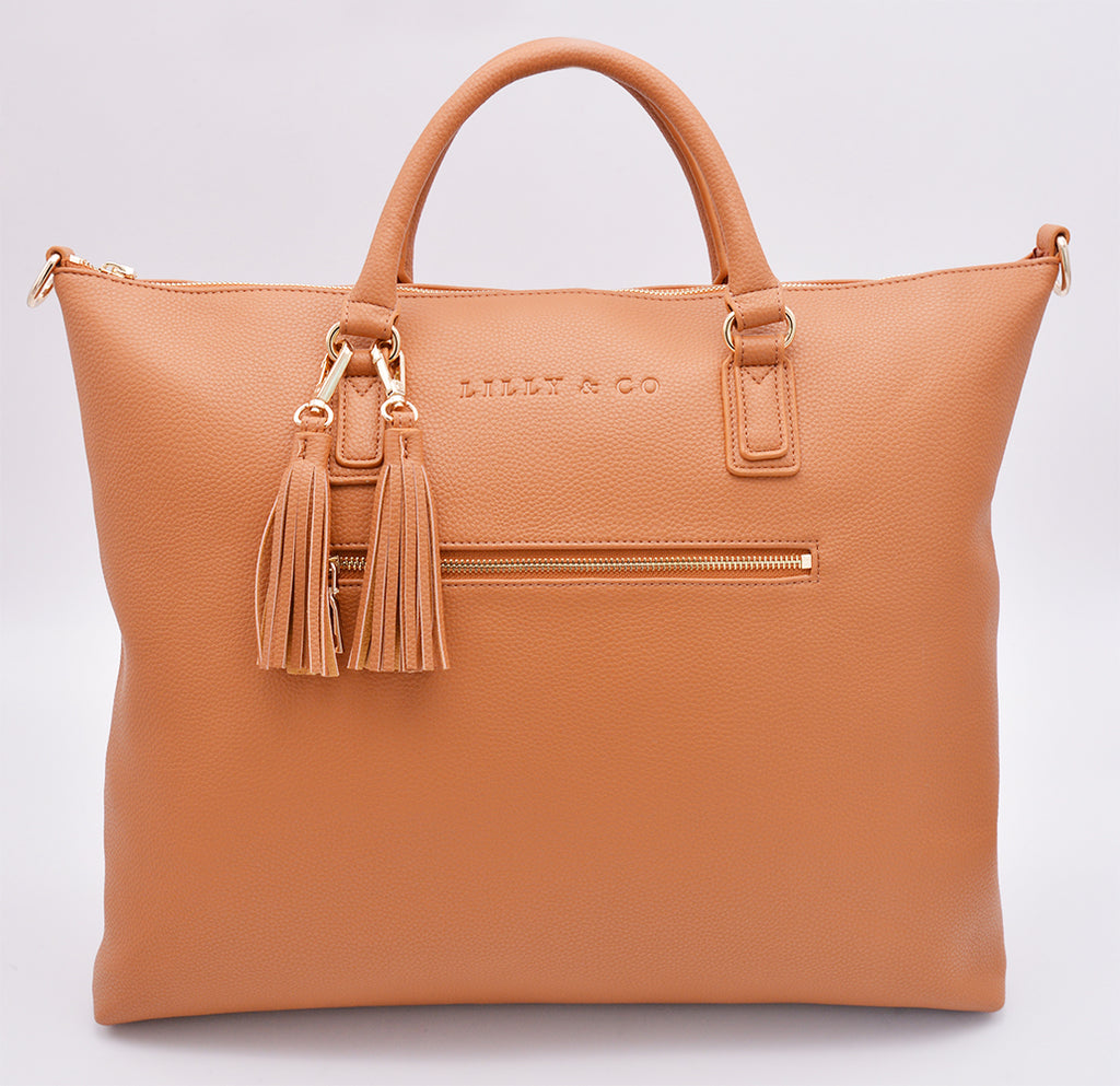 Harper Tassel Bag - Tan - Friday Flamingo