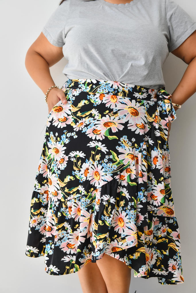Indigo Skirt - Friday Flamingo