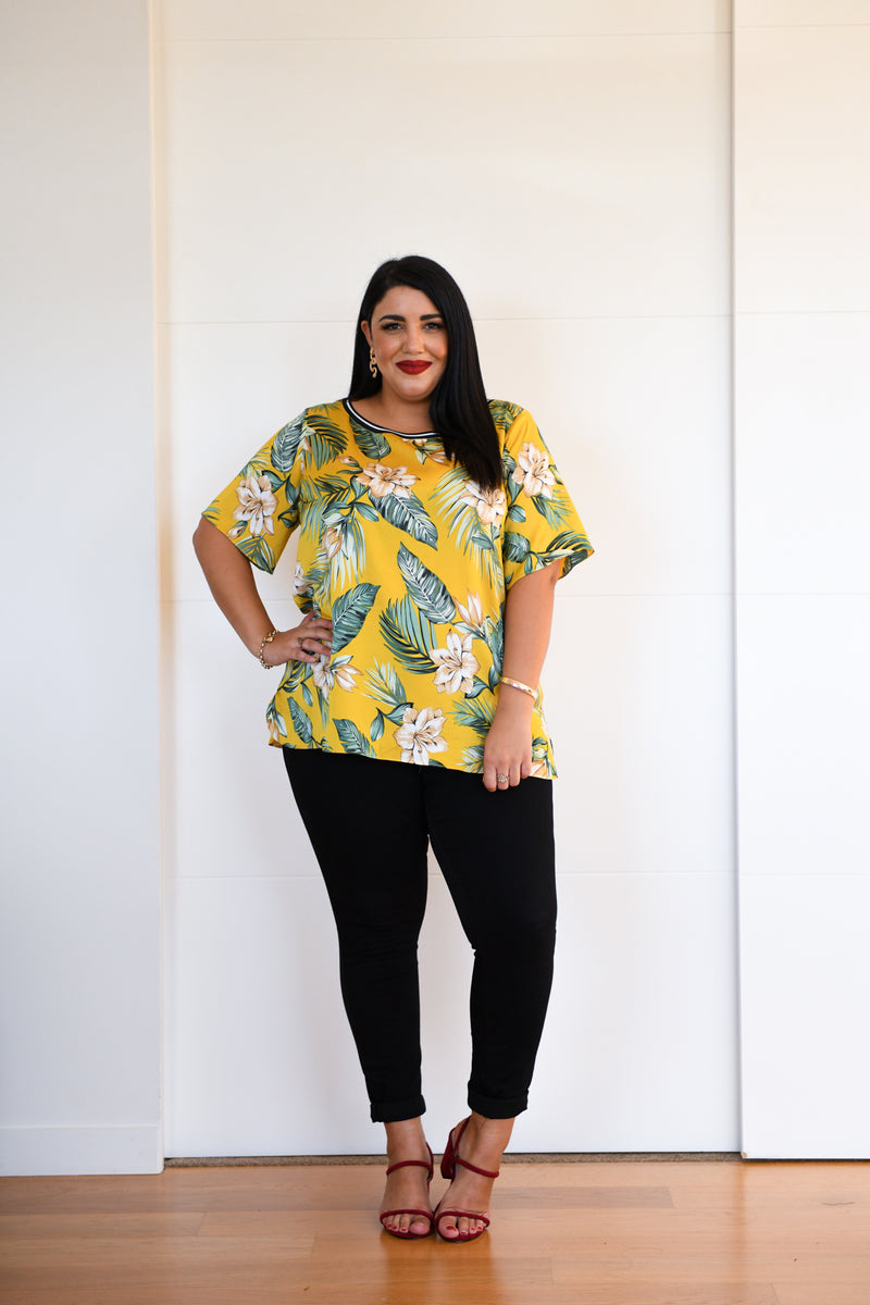 Palmer Floral Top - Friday Flamingo