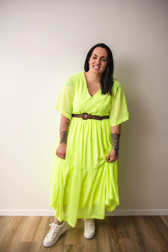 Gia Neon dress - Friday Flamingo