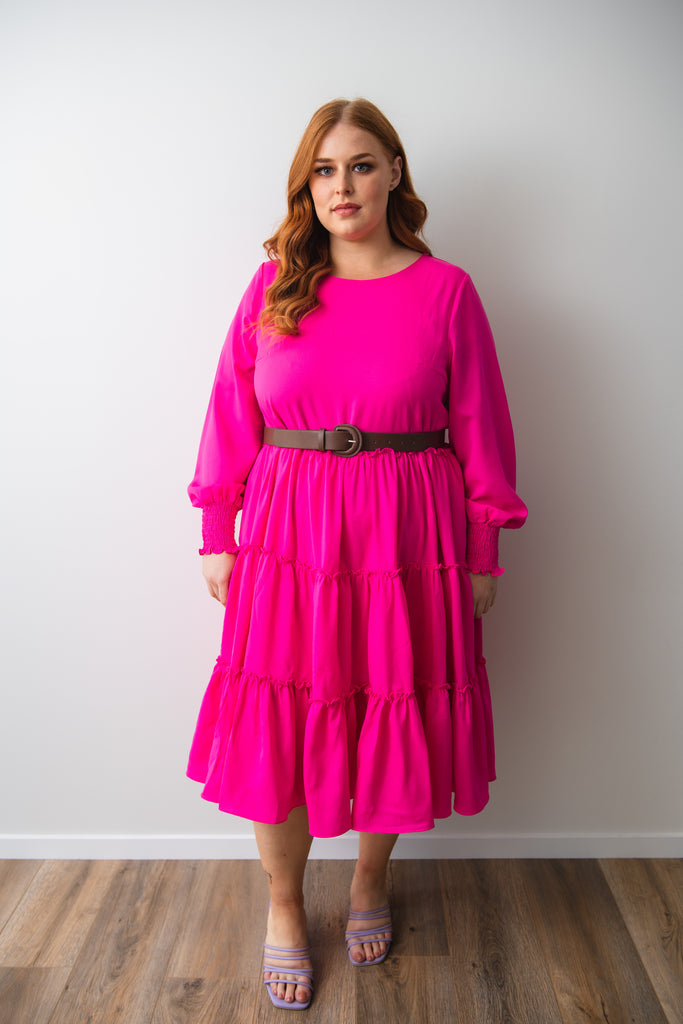 Isabella Pink Dress - Friday Flamingo